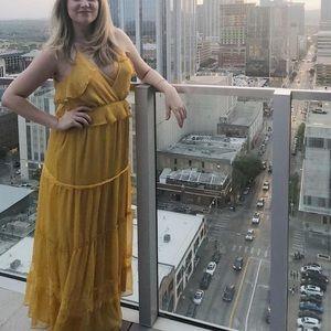 Gorgeous golden maxi dress